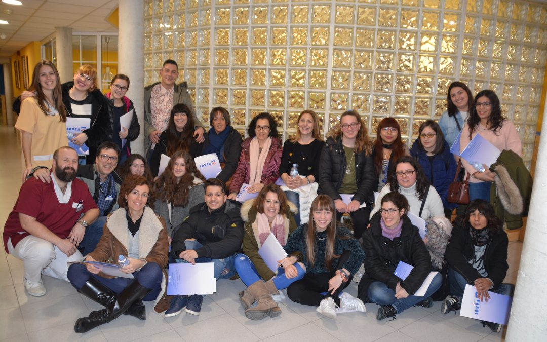 Visita dels alumnes d'auxiliar d'infermeria del centre ILERNA